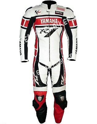 Yamaha R1 Men's Motorbike Leather Suit Moto Gp Motorcycle Leather Jacket Trouser