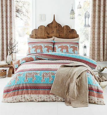 Catherine Lansfield Elephant Indian Ethnic Themed Bedding Duvet Cover