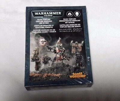 WARHAMMER 40K: Black Templars Chaplain Grimaldus and Retinue NEW AND SEALED