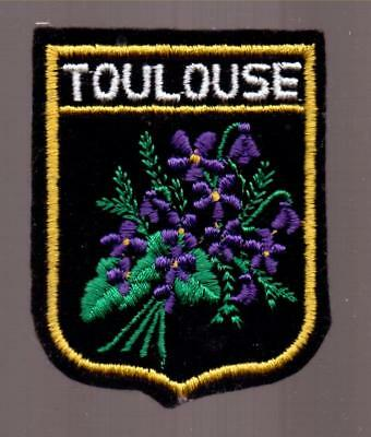 "Applique  Brodee  Ecusson  "" Toulouse""  Thermocollant"