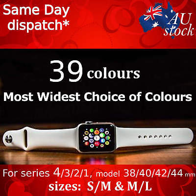 Sports Silicone Bracelet Strap Band For Apple Watch iWatch Series 3/2/1, 38/42mm