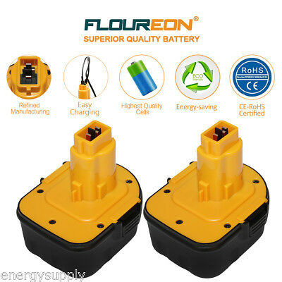 2 x 3AH Battery For Dewalt DE9037 DE9071 DE9074 DE9075,DE9501 DC9071 12V DC740K