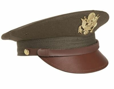 US ARMY OFFICERS WW2 PEAKED CAP & BADGE by MILTEC