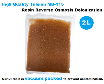 2 Litre DI High Quality Tulsion MB-115 Resin Reverse Osmosis Deionization Aquati
