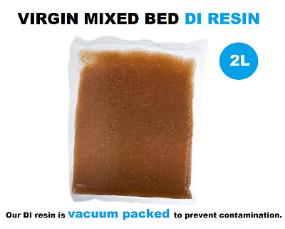 2L VIRGIN MIXED BED DI RESIN Deionization Window Cleaning/Aquarium/Cars Aquati