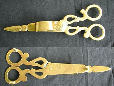 RARE ! 18-19 centr. HAND MADE ! BRONZE CHURCH SCISSORS FOR CLEARING OF CANDLES!