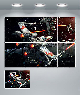 Star Wars X Wing Fighter Space Giant Wall Art Poster Print
