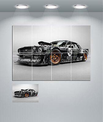 Ford Mustang Hot Rod Muscle Car Giant Wall Art Poster Print