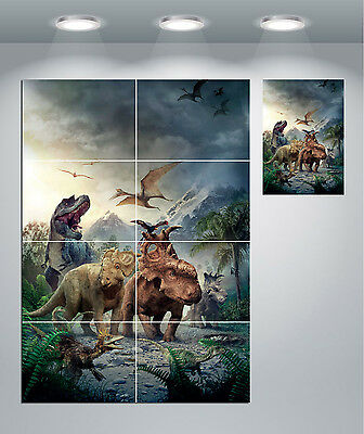 Dinosaurs T Rex Pterodactyl Giant Wall Art Poster Print