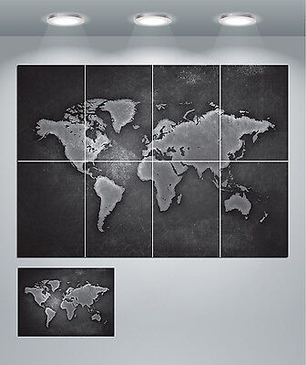 World Map Giant Wall Art Poster Print