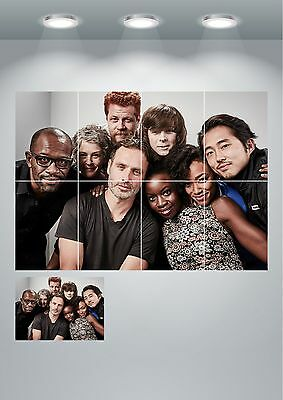 The Walking Dead TV Show Cast Giant Wall Art poster Print