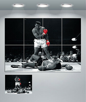 Muhammad Ali Red Gloves Black & White Giant Wall Art Poster Print