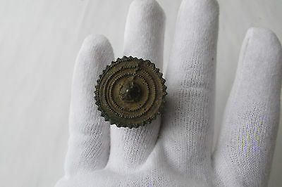 RARE ANCIENT LATE ROMAN/EARLY BYZANTINE RING With a large crown