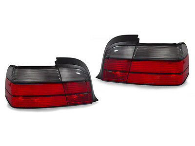 DEPO Euro Red/Smoke Rear Tail Light Lamp For BMW E36 2 Doors Coupe & Convertible