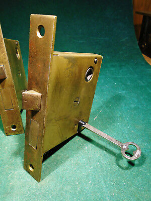 VINTAGE R & E RUSSELL & ERWIN MORTISE LOCK w/KEY - RECONDITIONED (2880)