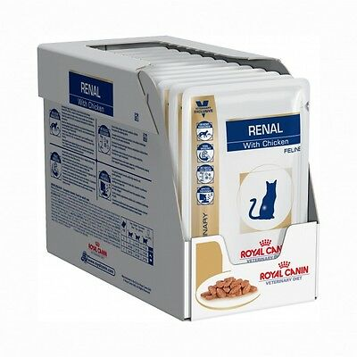 Royal Canin Veterinary Diet Cat Renal Poulet Sachet 12 x 85 grs