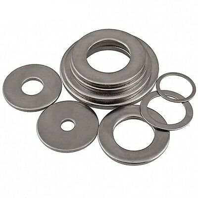 M2-M24 A4 Stainless Steel Penny Flat Washers Gasket Pad For Metric Bolts/Screws