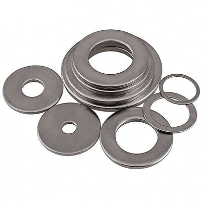 M1.6-M30 A2 Stainless Steel Flat Washers Gasket Flat Pad For Metric Bolts/Screws