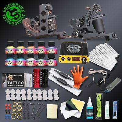 Professional Complete Tattoo Kit Set 2 Guns Immortal Color Inks Tattoo Machine