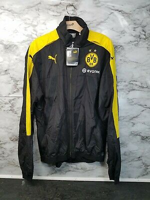 7f3be4c138b2 Puma Borussia Dortmund 16 17 Large Stadium Vent Jacket Puma Black  Cyber  Yellow