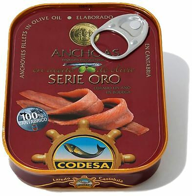 Filetti Di Acciughe Del Mar Cantabrico Serie Oro 85G Codesa