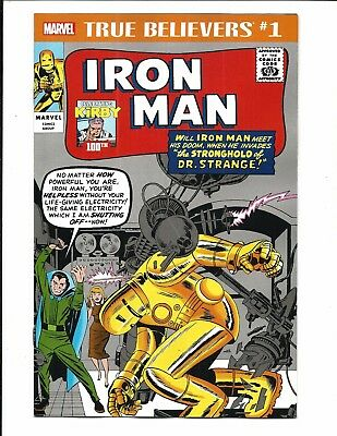 True Believers: Kirby 100Th. - Iron Man # 1 (Oct 2017), Nm New