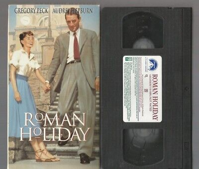 Roman Holiday VHS 1998 Gregory Peck Audrey Hepburn Paramount Rome Eddie Albert