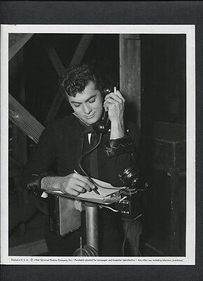 Tony Curtis Candid On Set Between Takes - 1954 So This Is Paris - Navy - Vintage