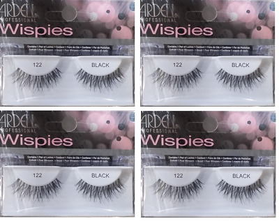 305a59e28bb Ardell Natural Lashes #122 False Fake Eyelashes Black Wispies 4Pack-FREE  SHIP!