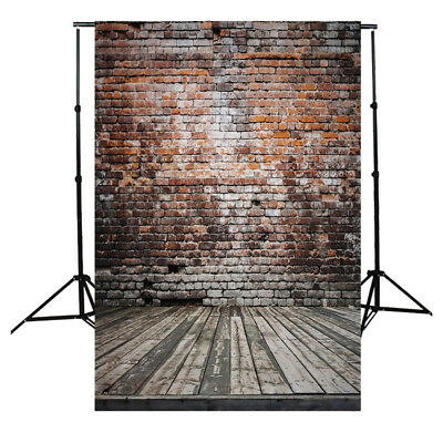 5x7FT Vinyl Photography Backdrop Photo Background, Old brick wall wood Y2Q1