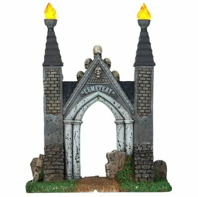 Lemax Spooky Town Collection Halloween Village Accessory Cemetery Gate NEW