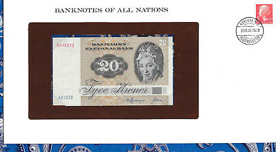 Banknotes of All Nations Denmark 20 Kroner P49a.2 1972 (1979) UNC A0793D