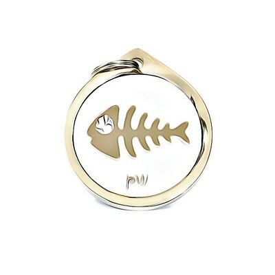 Best Quality Personalised FISH DESIGN Pet Cat ID Collar Name Tags Discs