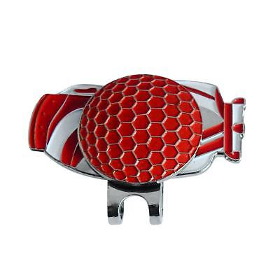 New Red Magnetic Hat Clip with Golf Ball Marker - Suits Golf Cap or Visor