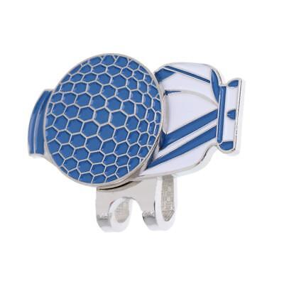 New Blue Magnetic Hat Clip with Golf Ball Marker - Suits Golf Cap or Visor
