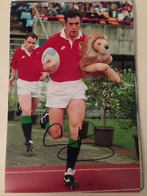 GAVIN HASTINGS SCOTLAND SCOTTISH RUGBY UNION LEGEND HAND SIGNED 12x8 PHOTO