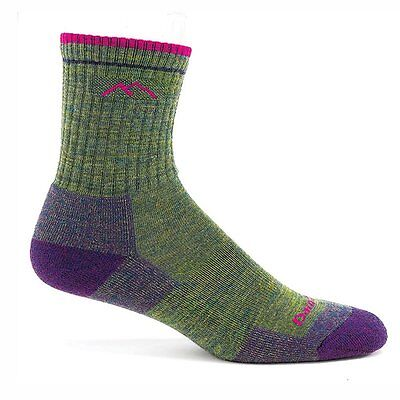 Darn Tough Vermont Women's Merino Wool Micro Crew Cushion Socks, Moss...