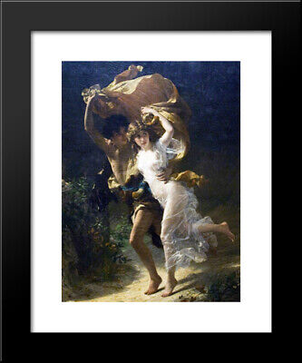 Pierre August Cot The Storm Wall Decor Barnwood Framed Picture Art Print 19x23