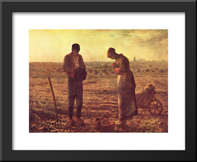 The Angelus, c.1859 34x28 Framed Art Print by Millet, Jean Francois