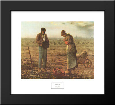 The Angelus, c.1859 22x20 Black Wood Framed Art Print by Jean Francois Millet