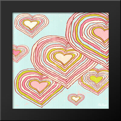 Hearts in Dreamland 16x16 Black Wood Framed Art Print by Peter Horjus