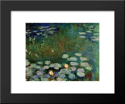Water Lilies 24x20 Black Wood Framed Art Print by Claude Monet