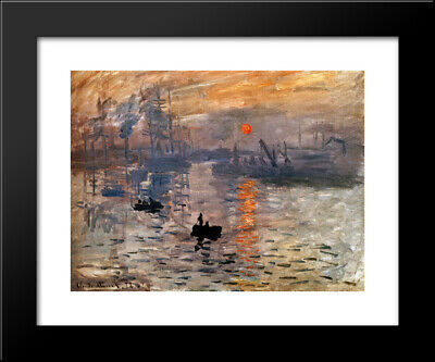 Impression, Sunrise, c.1872 (green) 24x20 Framed Art Print by Claude Monet