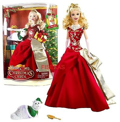 Barbie in a Christmas Carol Doll and Cat Eden Starling N8384 2008 NEW