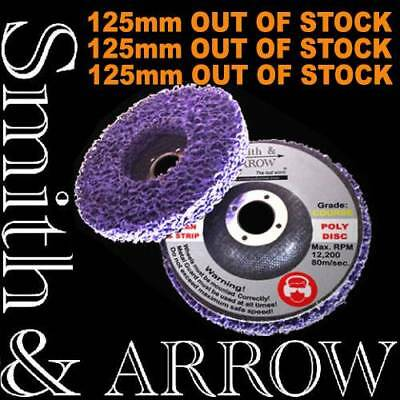 """2 /4 /20 x 125mm 5"""" POLY STRIP DISC WHEEL PAINT RUST REMOVAL CLEAN ANGLE GRINDER"""