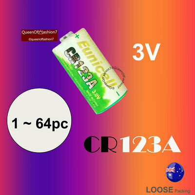 64~32~16~12~8~4~2 CR123A Eunicell 3V Lithium Battery CR17345 for Arlo Camera