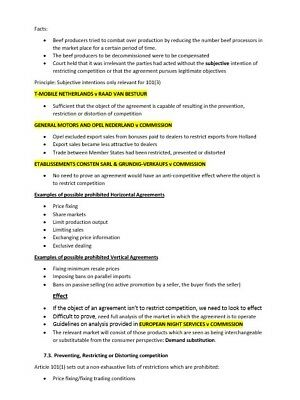 GDL Revision Notes - EU Law (BPP, 16/17, Distinction - 90%) - email delivery