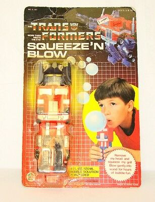 Optimus Prime Squeeze' N Blow Bubbler MOSC 1984 Vintage Hasbro G1 Transformers
