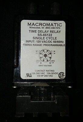 MACROMATIC TIME DELAY Relay Ss 50222-12 - $23.95 | PicClick on delay timer relay, macromatic alternating relay, abb alternating relay, macromatic phase monitor relay,