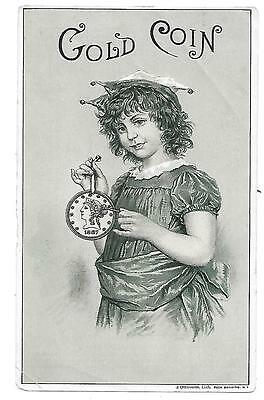 Gold Coin Ventiduct Stove Victorian Trade Card Bussey & Mcleod Co. Troy N.y.1887